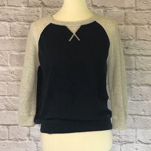 Autumn CashmereNavy/cream sweater size M